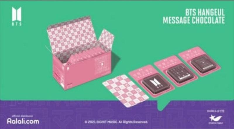BTS Hangeul Message Chocolate bisa dipesan mulai 11 Oktober