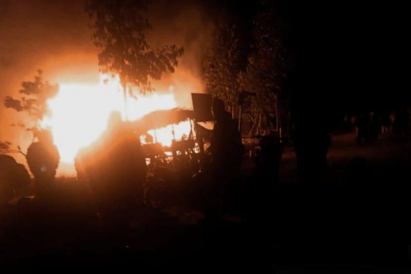 Polisi selidiki pembakaran pos timbangan di Musi Banyuasin