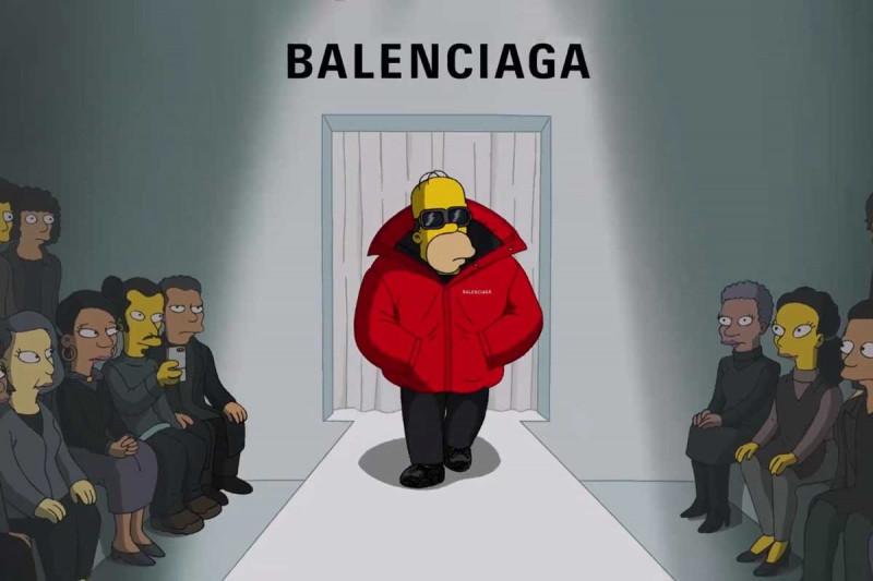 The Simpsons jadi model untuk Balenciaga