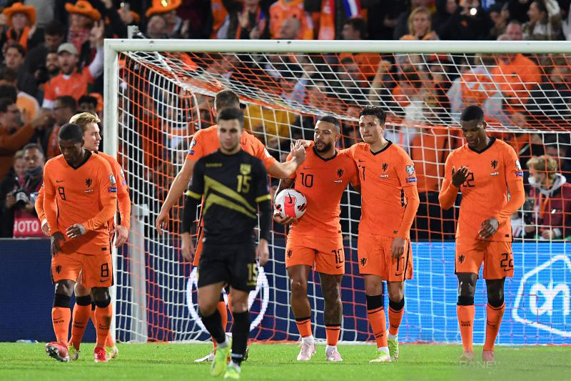 Hasil Kualifikasi Piala Dunia 2022: Belanda bantai Gibraltar 6-0
