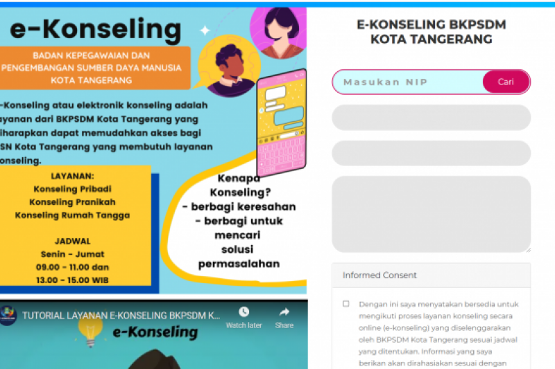 BKPSDM Kota Tangerang sediakan layanan e-Konseling