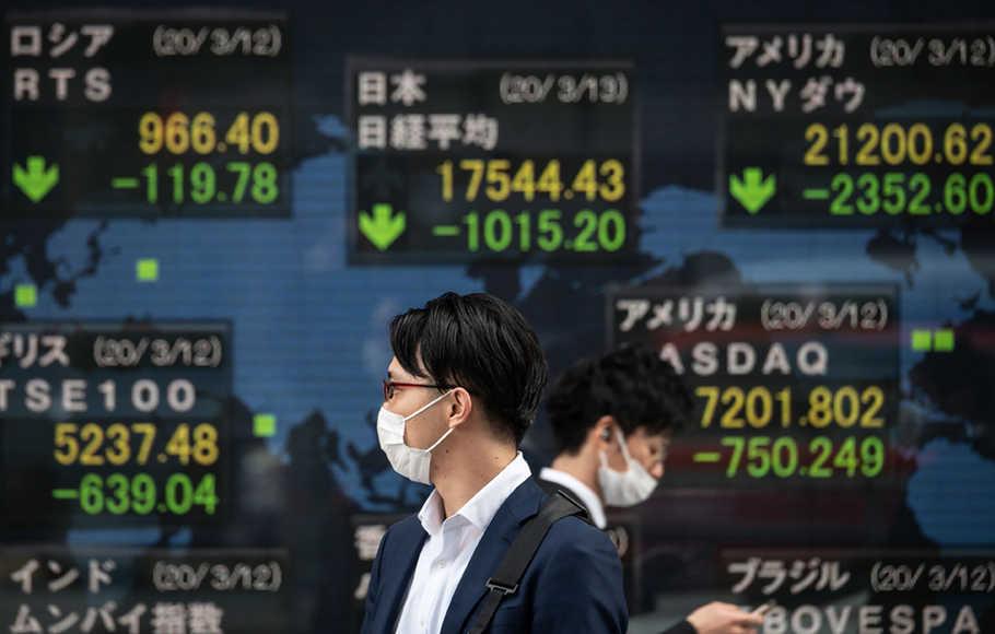Saham Hong Kong ditutup lebih rendah terseret raksasa teknologi