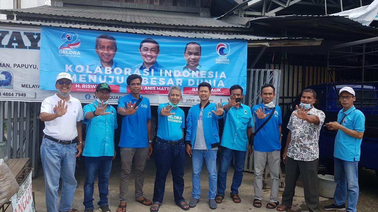 Rayakan HUT ke-2, DPW Partai Gelora Kalsel pasang 1.000 spanduk