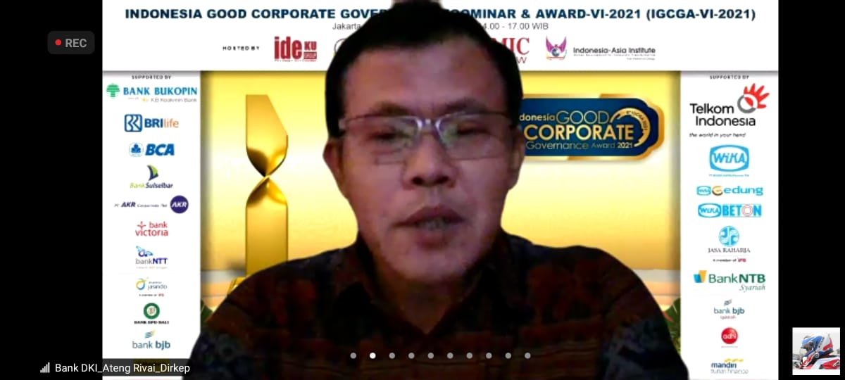Bank DKI raih The Best Indonesia GCG Award 2021