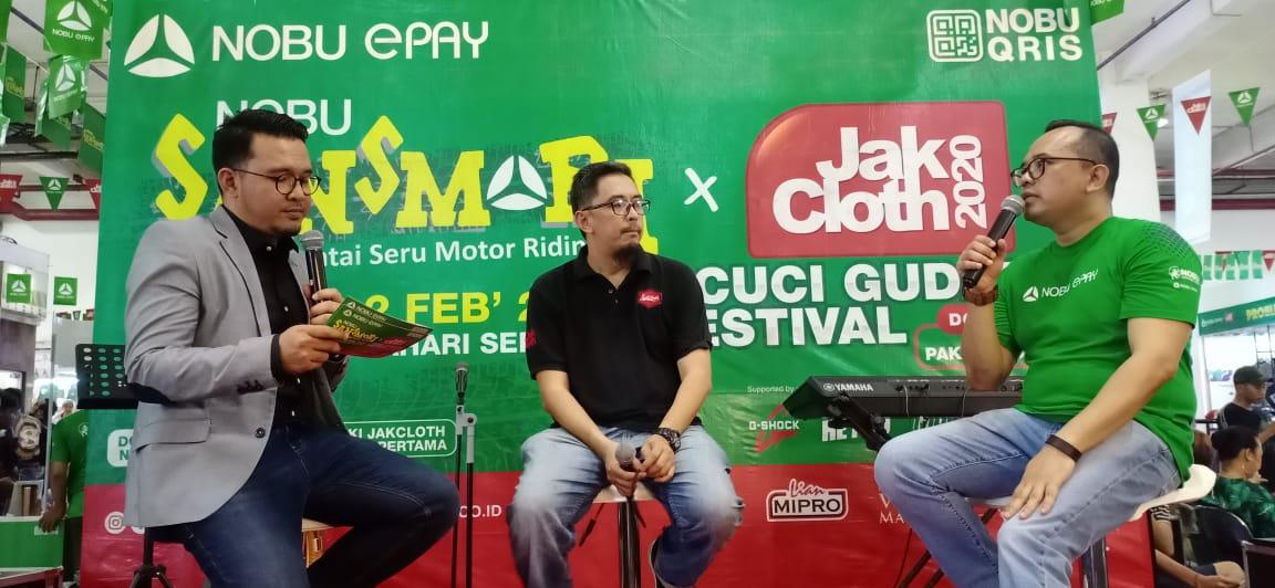 Nobu ePay hadirkan Nobu Sansmori & JakCloth bagi komunitas motor dan warga