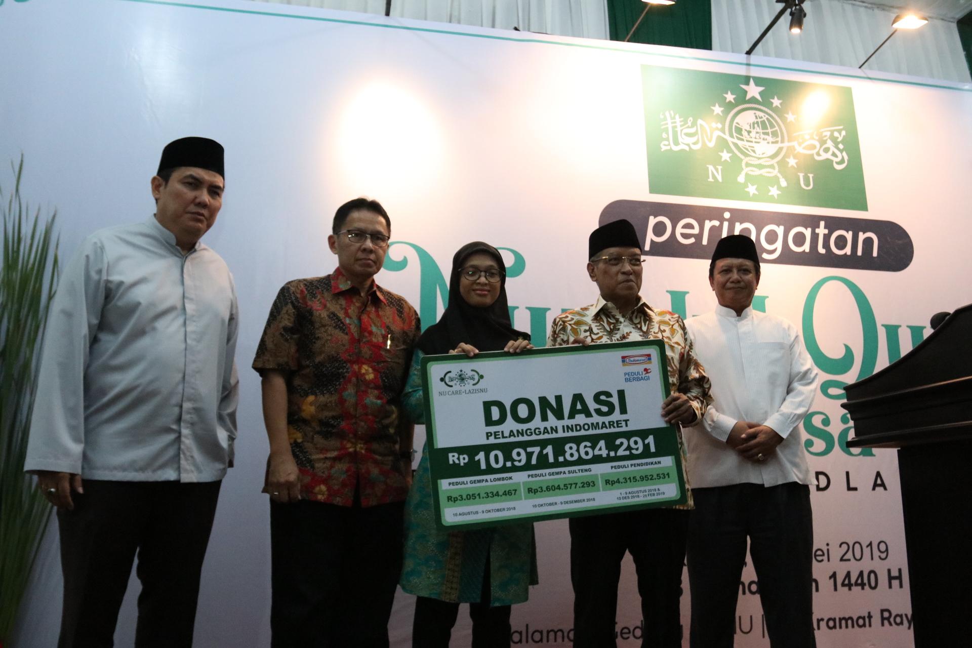Indomaret serahkan donasi peduli Lombok, Sulteng dan pendidikan