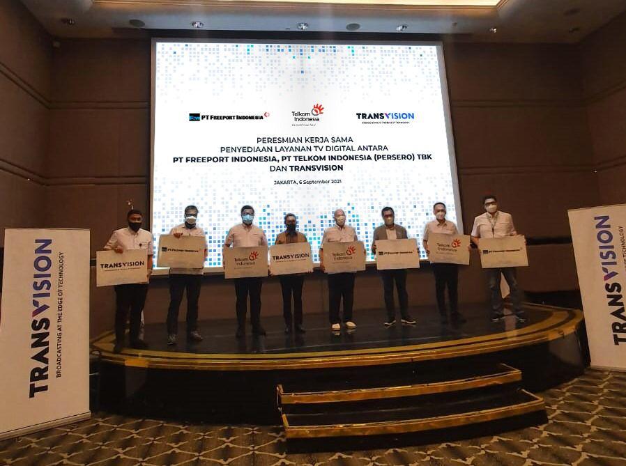 Telkom, Transvision dan Freeport Indonesia kerjasama layanan TV digital