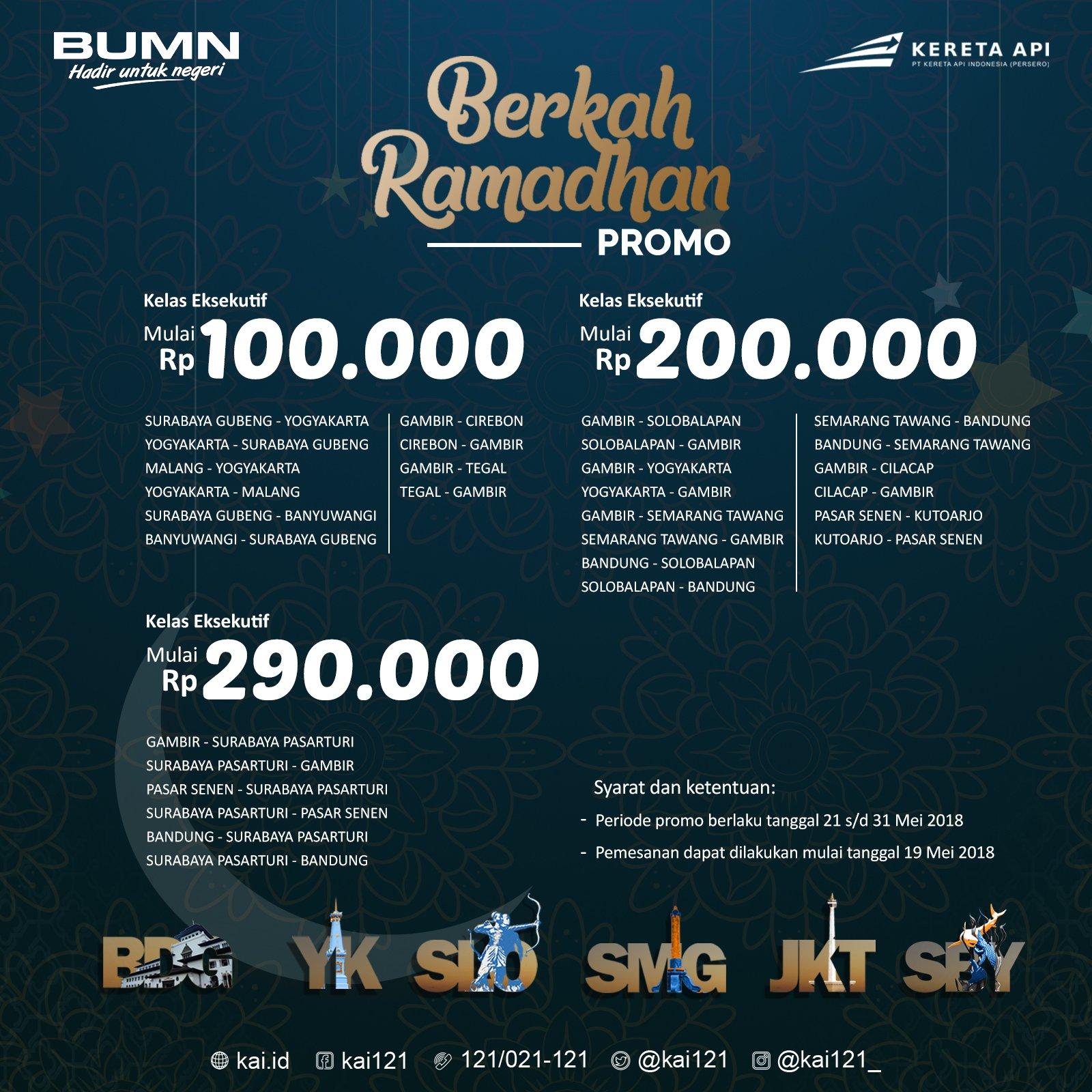 Berkah Ramadan bagi para pengguna jasa kereta api dari PT KAI (Persero)