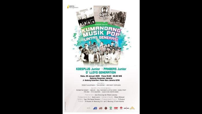 Persembahan konser musik pop lintas generasi untuk para legenda musik pop Indonesia