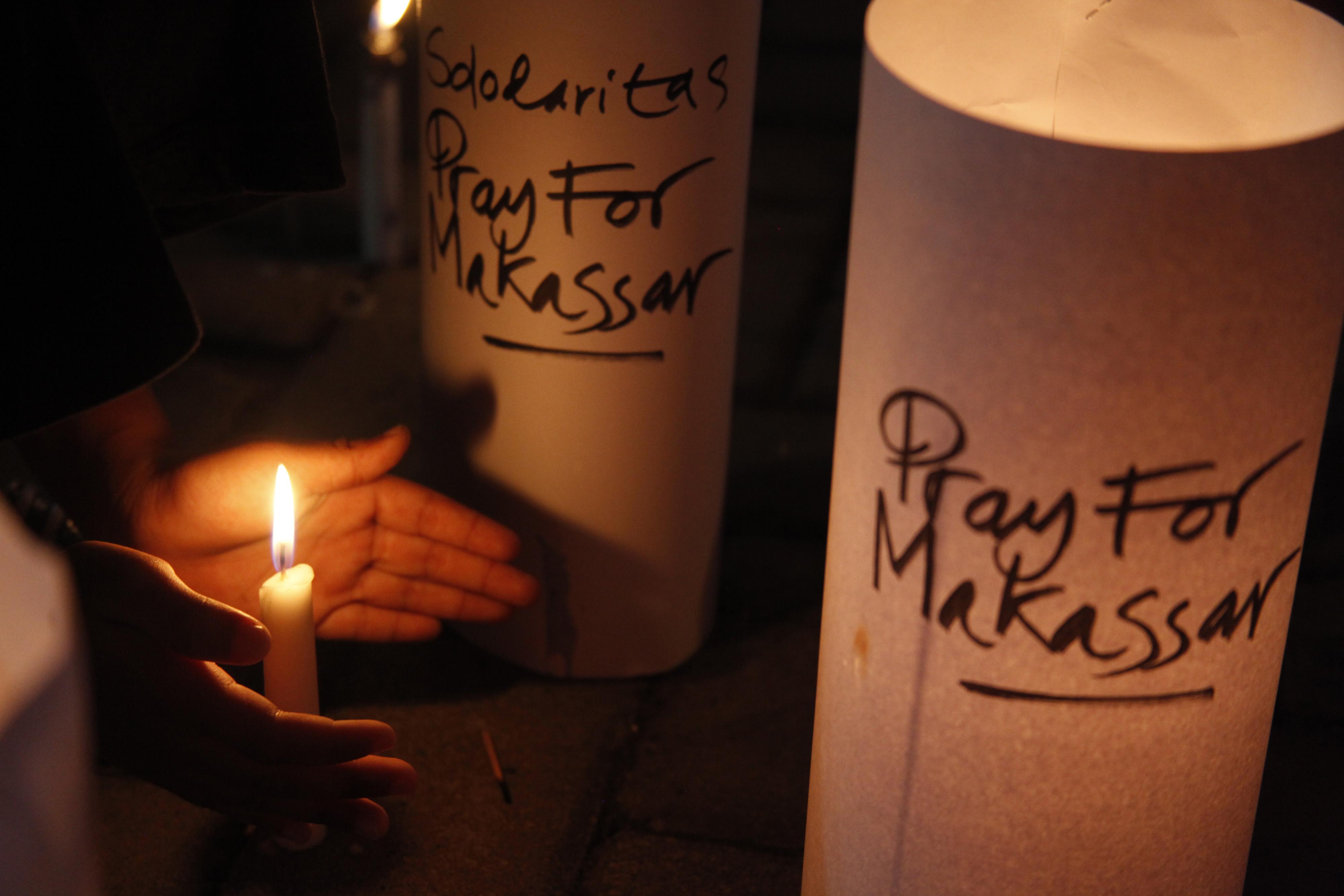 Tidak ada korban jiwa dalam aksi teror bom di Gereja Katedral Makassar