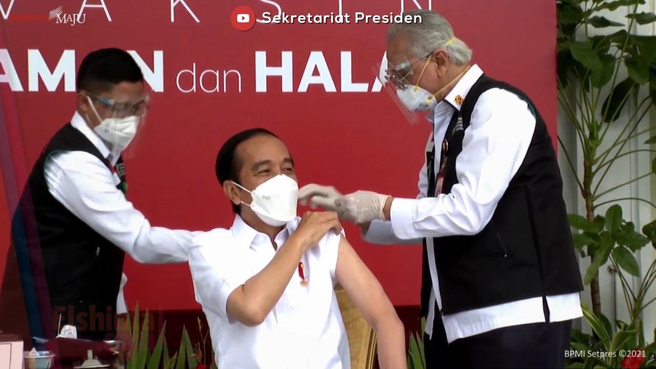 Jokowi hanya merasakan pegal setelah divaksin