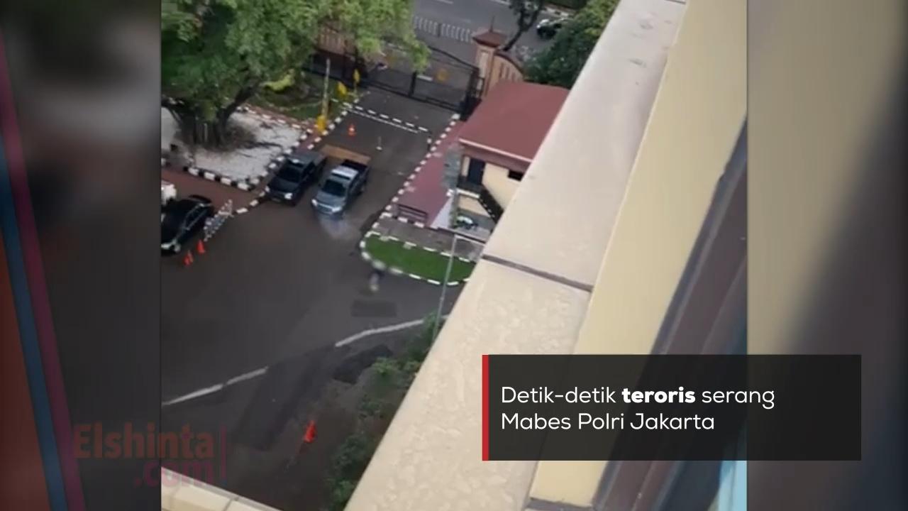 Detik-detik teroris serang Mabes Polri Jakarta
