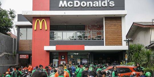 Gerai McDonald`s Jakarta ditutup dan diberikan peringatan