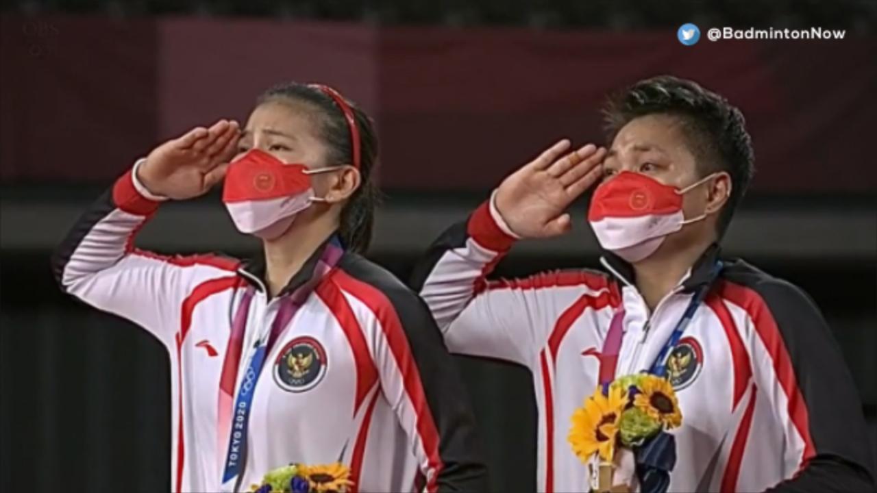 Indonesia Raya berkumandang pada Olimpiade Tokyo 2020